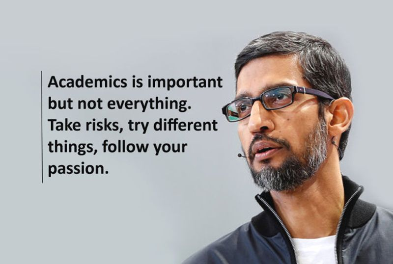 Academics is important but not everything. Take rsiks, try different things, follow your passion