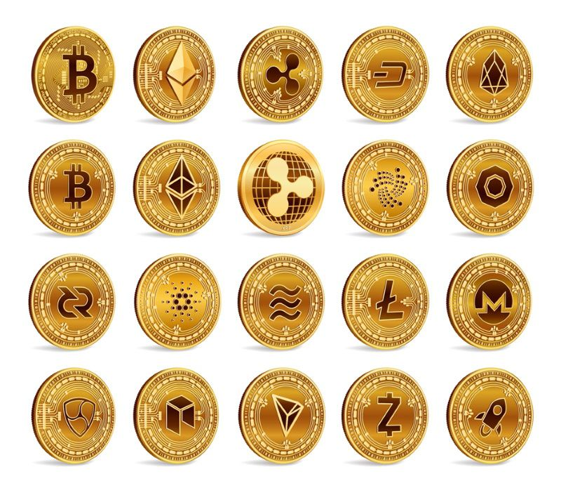 Cryptocurrency, bitcoin, Ethereum, Ripple, Litecoin, Dogecoin and other currencies