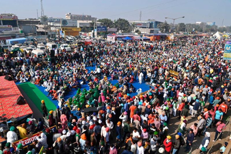 States that bordered Delhi also witnessed some of these peaceful protests