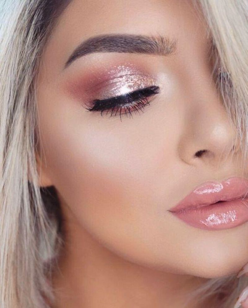 The Shimmery look