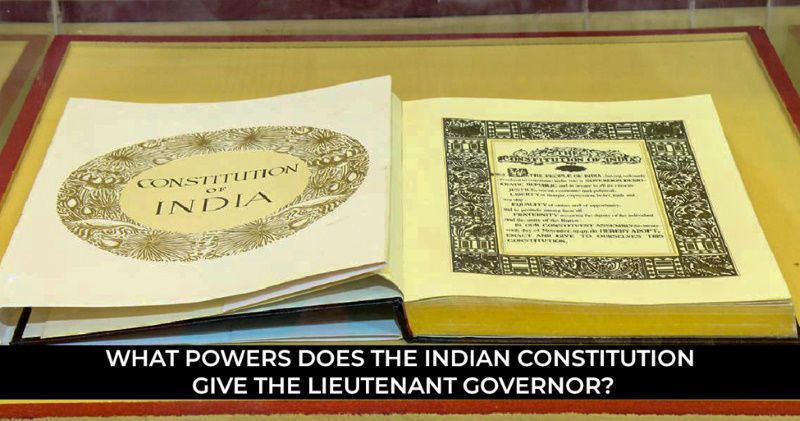 What powers does the Indian constitution give the LG