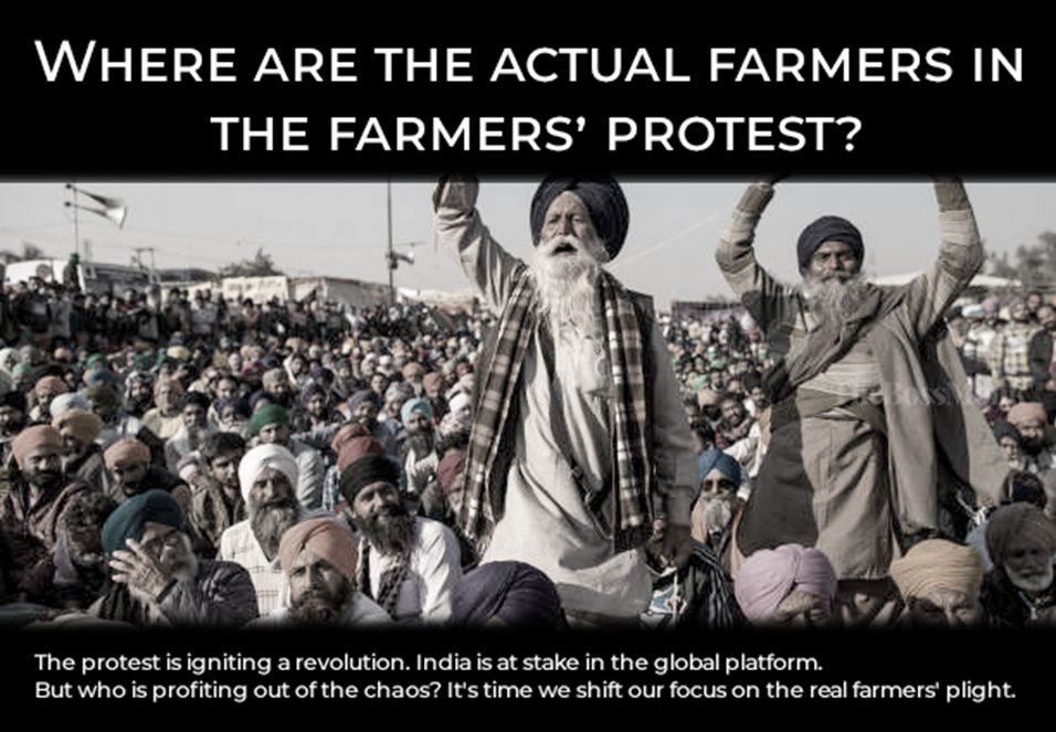 Where are the actual farmers in the farmers' protest
