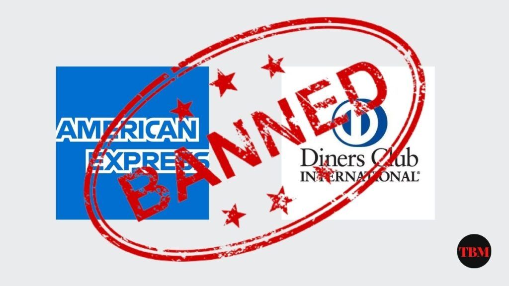 Amex and Dinner Club ban