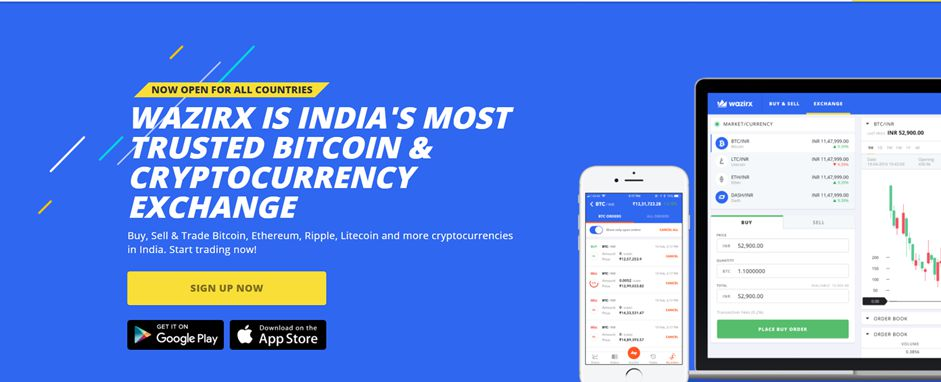 WazirX, India's most trusted Bitcoin and cryptocurrency exchange